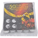 Vansh Sales Aluminum Scented Decorative Tealight Candles - Pack Of 50 (4 Cm X 4 Cm X 1 Cm, White)
