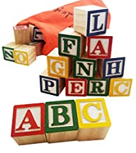 30 Alphabet Blocks with Letters Color…