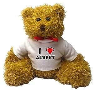 Teddy Bear with I Love Albert t-shirt