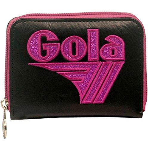 Portafoglio GOLA Zip Davis Glitter - ZCUB457BR 13x10 Black/Berry