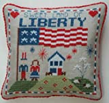 img - for Liberty Pillow Cross Stitch Chart book / textbook / text book