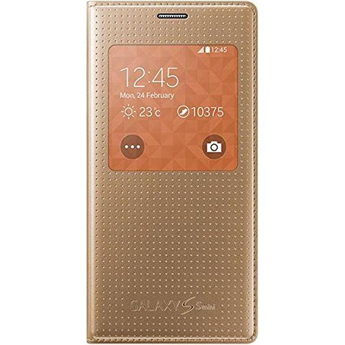Samsung EF-CG800BDEGWW Flip Cover with See Through Window for Galaxy S5 Mini - Copper Gold (Samsung Mini S5 Gold compare prices)
