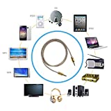 Asamoom 3.5mm Aux Cable Male to Male Stereo Audio Cable (1m) for Headphones iPods iPhones iPads Speaker Car Stereos (Golden)
