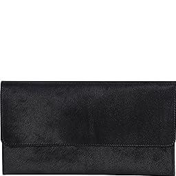 Latico Furbulous Clutch, Black, One Size