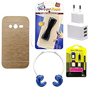 Mify Mobile Accessories Combo for Samsung Galaxy G313, Golden