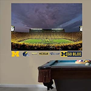 NCAA Michigan Wolverines Night Game at Stadium Mural Wall Graphic by Fathead