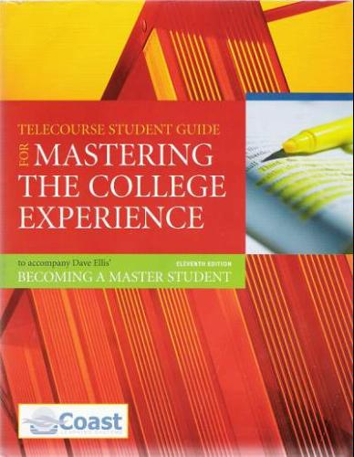 Telecourse Student Guide to Accompany becoming a Master Student, 11/E Dave Ellis