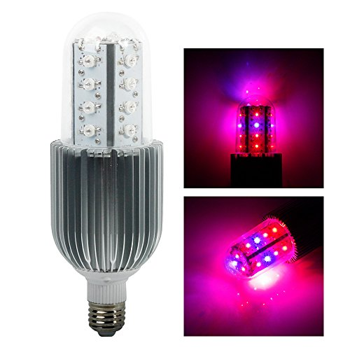 Lvjing® High Power 23*3W / 69W E27 Led Grow Light Bulb 360 Degree Lighting 17Red + 6Blue Led Lights For Plants In Garden Greenhouse Indoor Hydroponic System