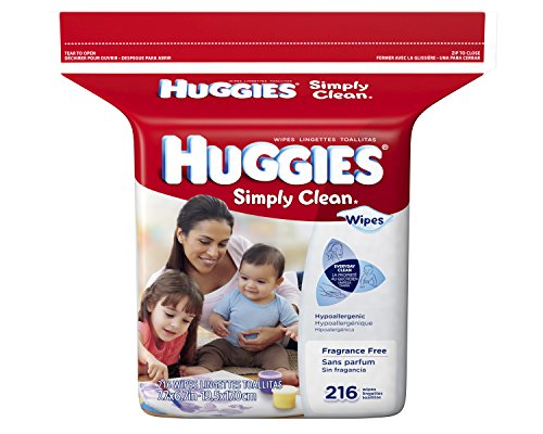 Huggies Simply Clean Fragrance Free Baby Wipes Refill, 216 Count - 1