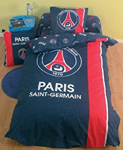 housse de couette psg football paris saint germain. Black Bedroom Furniture Sets. Home Design Ideas