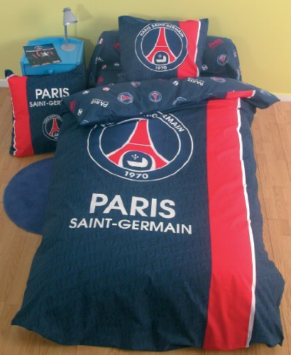 Bad housse de couette psg football paris saint for Housse couette football