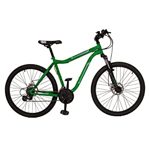 Gents 26 Inch MuddyFox Street Front Suspension Mountain Bike in Anodised Green.