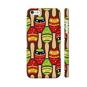 Colorpur Red Green Shaker Handle Designer Mobile Phone Case Back Cover For Apple iPhone SE | Artist: Designer Chennai