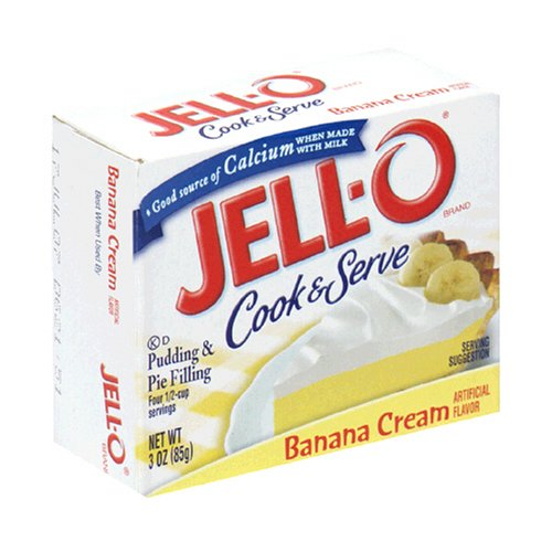 Buy Jell-O Cook & Serve Pudding & Pie Filling, Banana, 3-Ounce Boxes (Pack of 24) (JELL-O, Health & Personal Care, Products, Food & Snacks, Baking Supplies, Pie & Cobbler Fillings)