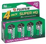 Fujifilm Super HQ 200 Speed 24 Exposure 35mm Film - 4 Pack
