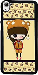 PrintVisa Cartoon pattern Girl Back Cover for HTC Desire 826 (2D-HTCD826-D7711)
