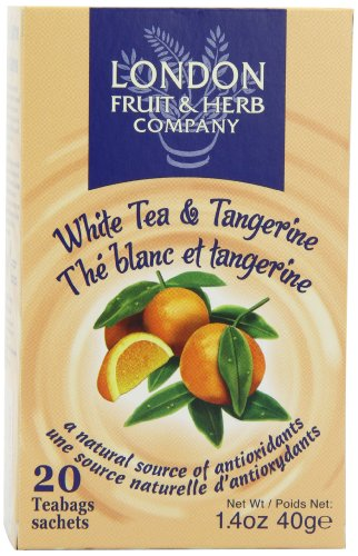 London Fruit and Herb Green Tea and Peach 20 Teabags (Pack of 6, Total 120 Teabags)