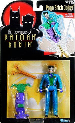 Year 1995 The Adventures of Batman and Robin 5 Inch Tall Action Figure - Pogo Stick Joker with Power Launcher - 1