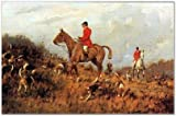 SMART ART - 'Drawing the Gorse ' by Henry Alken - Fine Art Print 11x9 inches