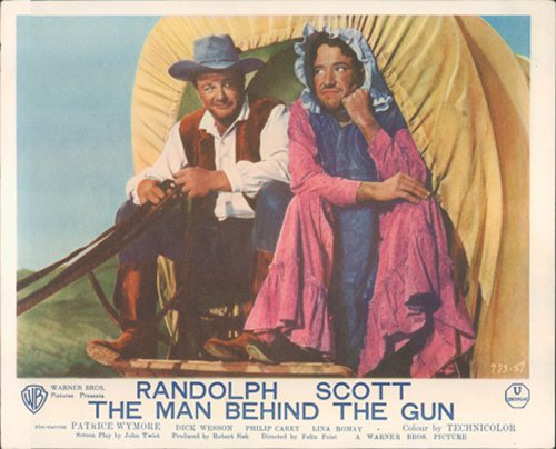 The Man Behind the Gun Funny Film Poster