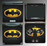 Original Retro Batman Logo Bat Man Signal Cartoon TV Show Comic Movie Video Game Vinyl Decal Cover Skin Protector for Nintendo GBA SP Gameboy Advance Game Boy