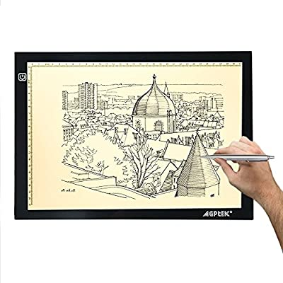 AGPtEK LED Tracing Light Box Drawing Tablet Pad Adjustable Brightness For Sketching Drawing Projects