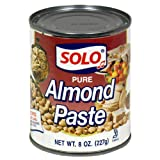 Solo Almond Paste, 8-Ounce Cans (Pack of 4)