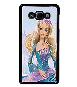 PrintDhaba Barbie Queen D-1024 Back Case Cover for SAMSUNG GALAXY A7 (Multi-Coloured)
