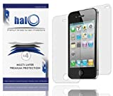 5115VN kMXL. SL160  Halo Screen Protector Film Clear (Invisible) for iPhone 4G 4 (3 Pack + 3 Bonus Back Films)