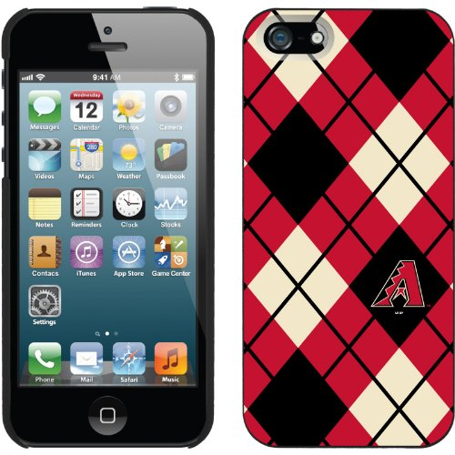 Great Sale Arizona Diamondbacks - Argyle design on a Black iPhone 5 Thinshield Snap-On Case by Coveroo