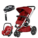 Quinny Buzz Xtra Red Rumour with Pebble Car Seat and Familyfix Base