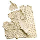 HALO 4-Piece Organic Layette Set - Cats and Dogs, Small