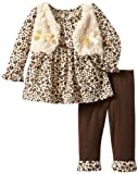 Young Hearts Baby-Girls Infant 2 Piece Dotted Shirt And Pant Set,Rust/Copper,18 Months