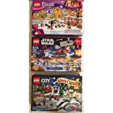 Lego Advent 2015 Bundle Star Wars 75097 Friends 41102 and City 60099