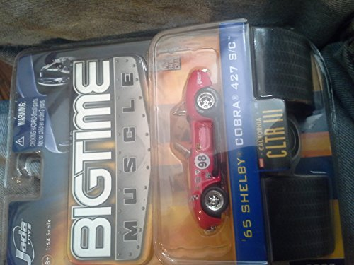 Jada BIGTIME MUSCLE 1:64 scale '65 Shelby Cobra 427 S/C Convertible - Metallic Orange