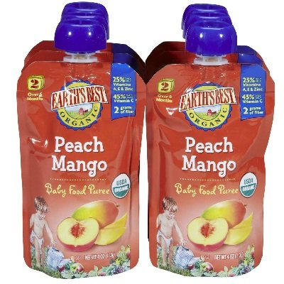 Earth'S Best Baby Foods Puree Peach Mango (12X4Oz) front-976990