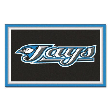 FanMats Toronto Blue Jays 4x6 Area Rug Carpet New