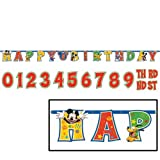 Mickey Mouse 'Fun and Friends' Jumbo Letter Birthday Banner Kit (1ct)
