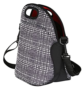 """LUNCH BAG by CARREZE, This Neoprene Lunch Tote, Is Rated for High Quality In, Insulated Lunch Bags, Lunch Tote Bag. The Lunch Box """"Package Includes"""" a Matching, Water Bottle Tote Bag."""