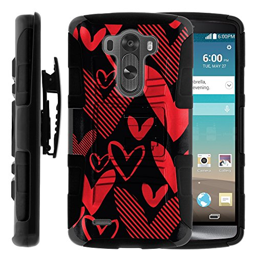 Click to buy LG G3 D855 Case, LG G3 D855 Holster, Two Layer Hybrid Armor Hard Cover with Built in Kickstand and Unique Graphic Images for LG G3 D850, VS985, D851, LS990, US990 (AT&T, T Mobile, Verizon, Sprint, US Cellular) from MINITURTLE | Includes Screen Protector - - From only $10.49