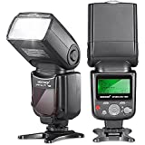 Neewer VK750 II i-TTL Speedlite Flash with LCD Display for Nikon Digital SLR Camera, Fits Nikon D7100 D7000 D5200 D5100 D5000 D3000 D3100 D300 D300S D700 D600 D90 D80 D70 D70S D60 D50