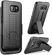 Galaxy S6 Case, i-Blason Transformer Slim Hard Shell Holster Case Combo with Kickstand and Locking Belt Swivel Clip for Samsung Galaxy S6 (Black)