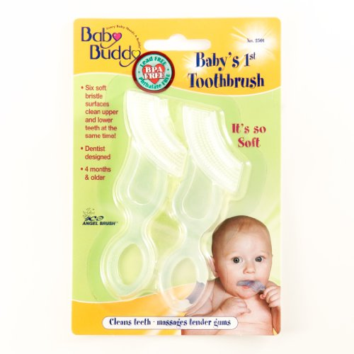 Baby Buddy Baby'S 1St Toothbrush, Clear, 2-Count front-432520