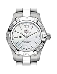 MIT TAG Heuer Watch - Women's Steel Aquaracer Watch with Mother of Pearl Dial