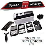 Pro Chef Nicer Dicer Plus; Food Salad Vegetable All-in-one Potato Onion Tomato Apple Egg and Garlic Dicer Chopper Cutter Mandolin Slicer and All-purpose Kitchenaid