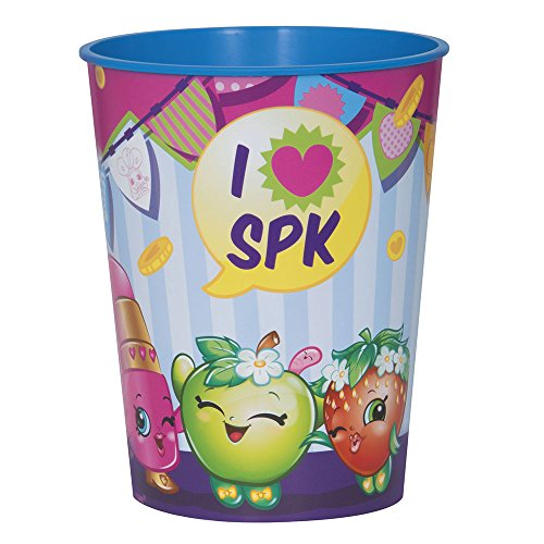 16oz Shopkins Plastic Cups, 12ct