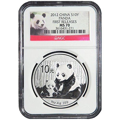 2012 10 Yuan Silver China Panda First Releases (Panda FR Label) MS70 NGC