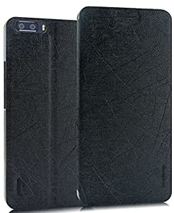 Huawei Honor 6 Plus Flip Cover / Case - Cool Mango Executive PU Leather Series Flip Cover- Simple Black