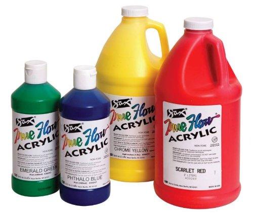 Sax True Flow Medium-Bodied Acrylic Paint - 1/2 Gallon - Raw Sienna front-966264
