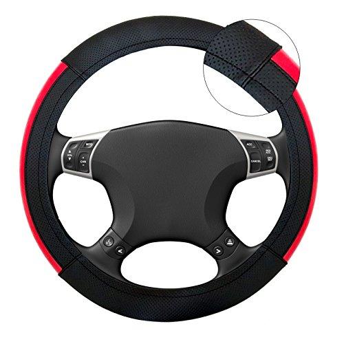 akhan lb49 housse de volant couvre volant noir rouge. Black Bedroom Furniture Sets. Home Design Ideas